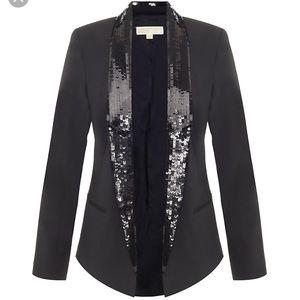 Michael Kors sequin lapel blazer size 14